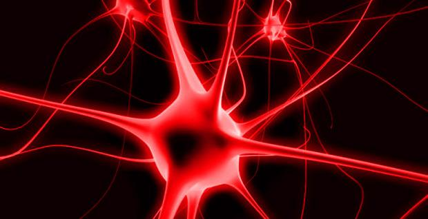 psychedelic red brain cell