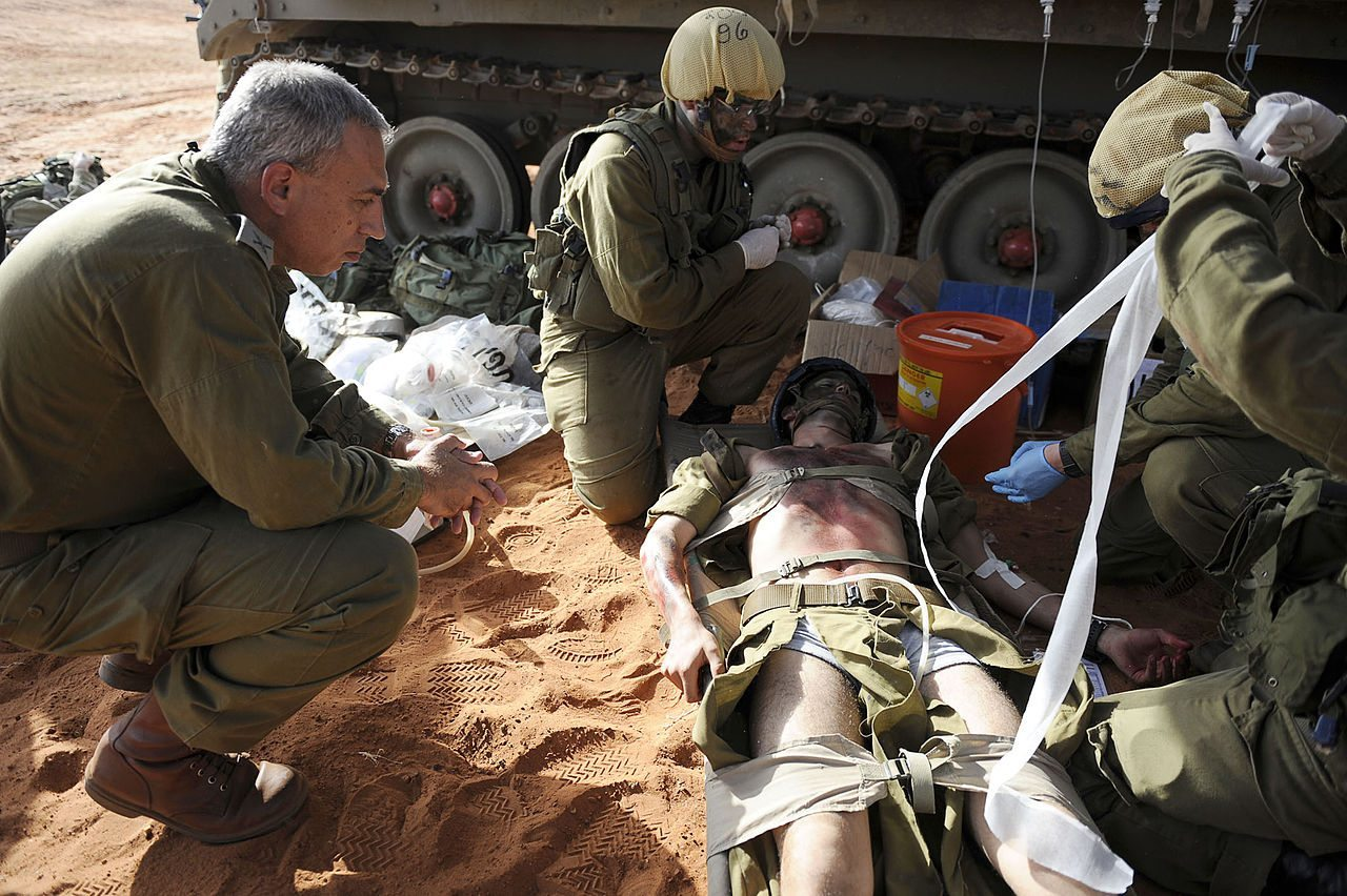IDF medical watches worn by soldiers send vital information to medic smart phone