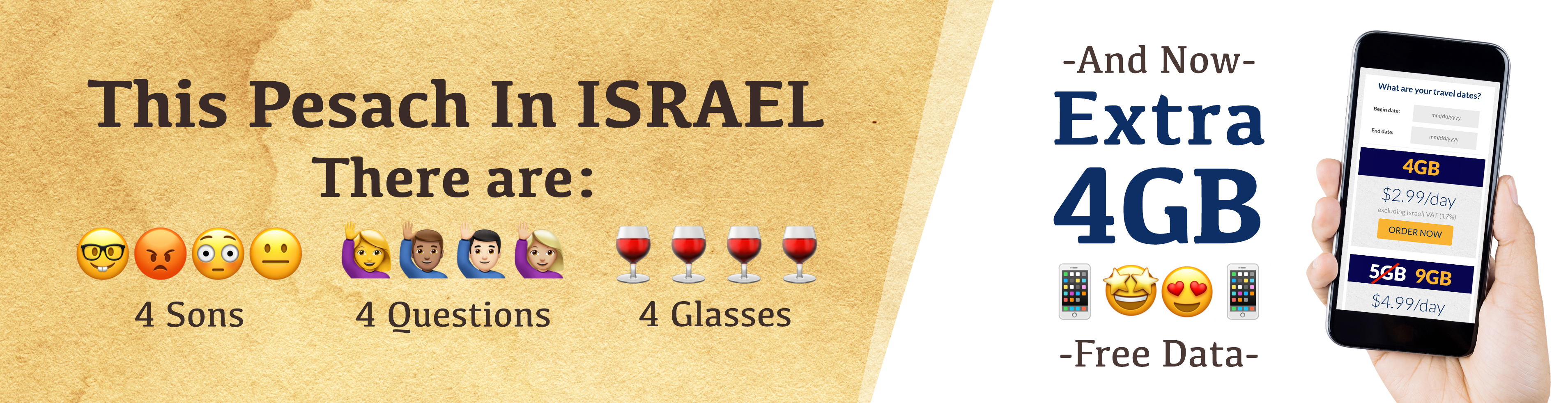 pesach special for those travelling to Israel this year