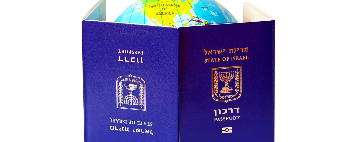 Globe staring into Israeli passport