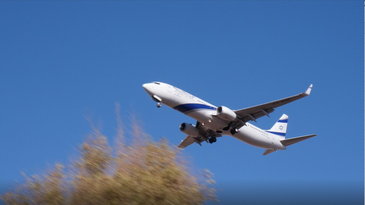 students taking a gap year in Israel fly in El Al airplane