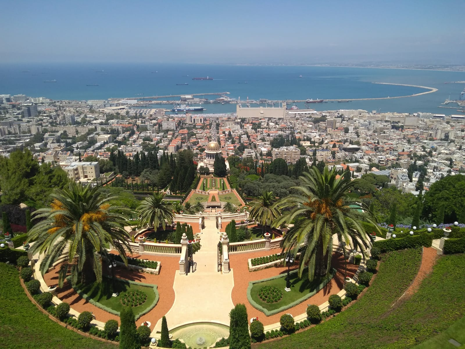 Bahai garden panorama tour in haifa