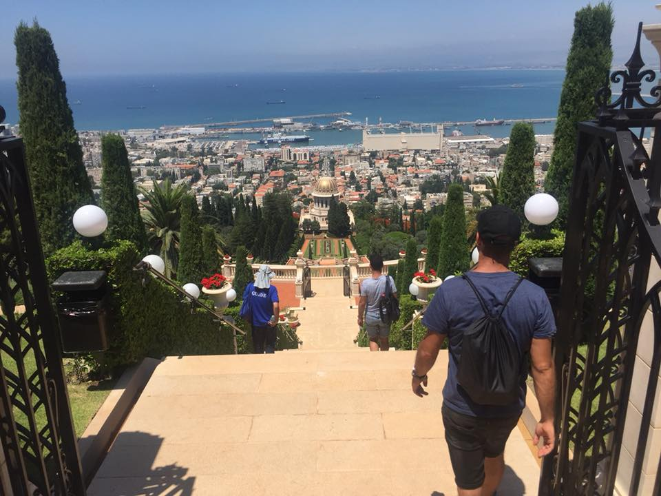 tour of the Bahai gardens in Haifa from the paoramic terace